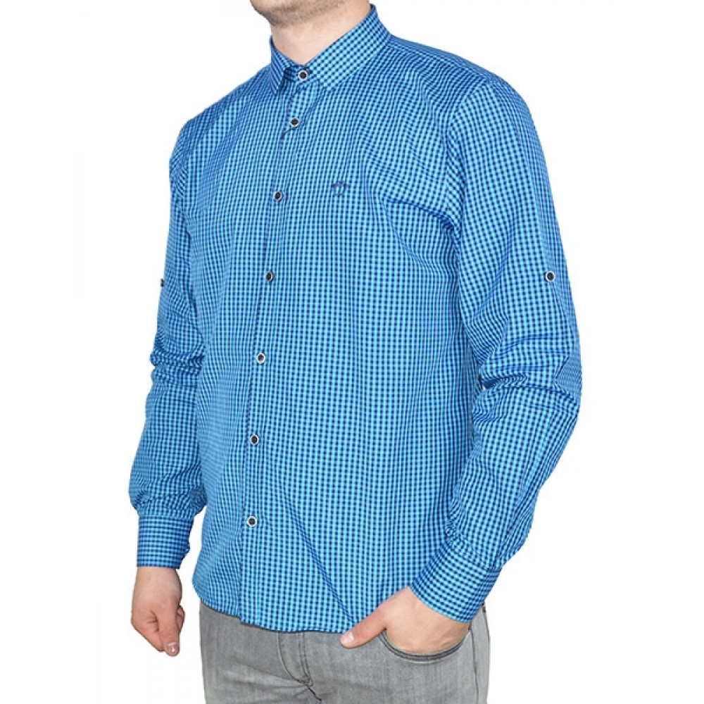 Shirt with small squares