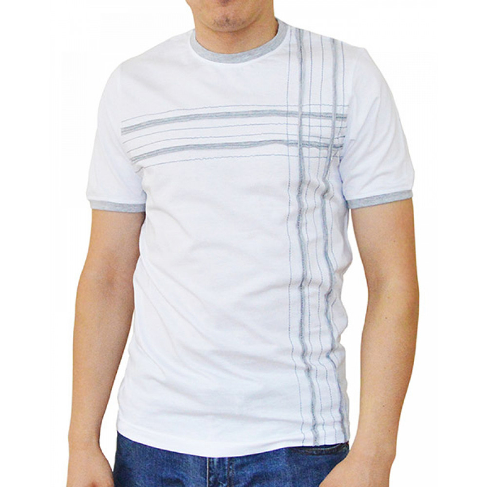 T-shirt with strips