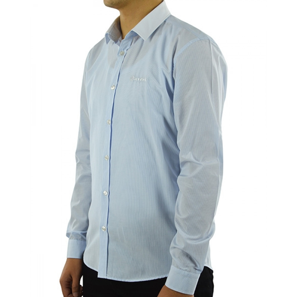 Shirt with a white collar (Slimfit)